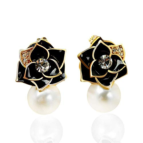 Lovely Simulated Pearls Metal Stud Earrings Gift Fashion Jewelry Ear Stud