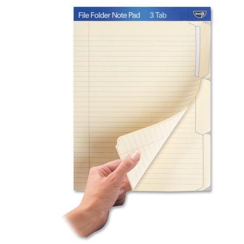 Wholesale CASE of 20 - Ideastream File Folder Note Pad-File Folder Note Pad, 1/3 Cut, Ast by ide