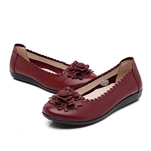 Breve zapatos viento nacional mujeres/Mitad inferior suave y zapatos de las mujeres de edad/Madre con zapatos planos/Mujeres zapatos de las mujeres embarazadas F