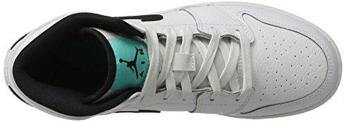 Air Jordan Boys Air 1 Mid Big Kids Style Bianco / Puro Platino / Bianco