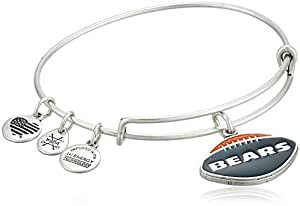 Alex and Ani Women's Color Infusion Chicago Bears Football II Bangle Rafaelian Silver One Size