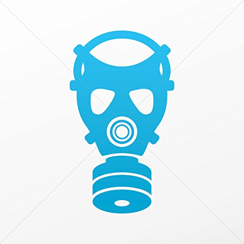 Decal Stickers Gas Mask Vehicle Tablet Hobby Waterproof Racing Durable Blue (35 X 19.9 In)