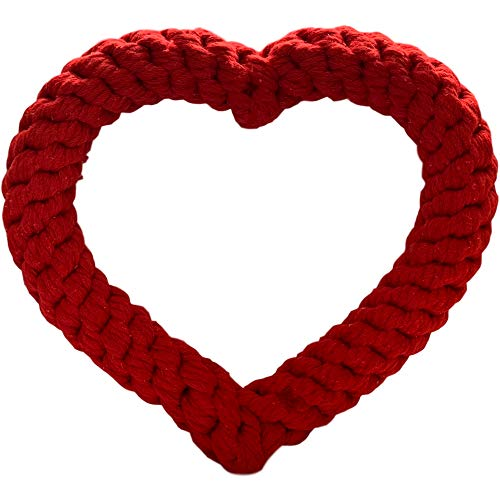- Dog Valentines Day Toy - Heart Shaped Large Dog Rope Toys, Pet Valentine Gifts for Large and Medium Dogs, Best Valentines Day Dog Toy XL 10