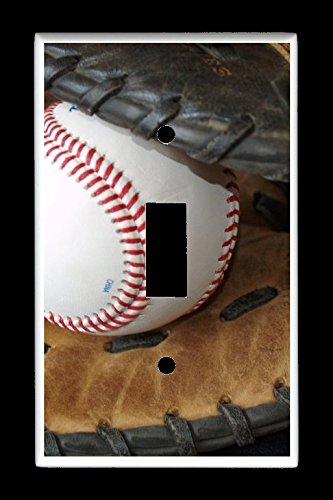 Single Toggle (1-toggle) Light Switch Plate Cover - Sports Recreation - Baseball and - Light Switch Covers Sports