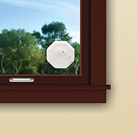 SABRE Wireless Window Glass Break & Vibration Detector Alarm with Security Warning Decal - DIY EASY Installation