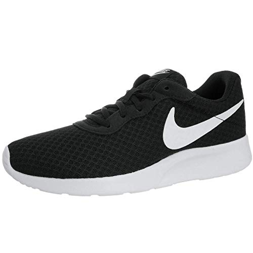 Nike Womens Tanjun Running Sneaker Black/White 6.5