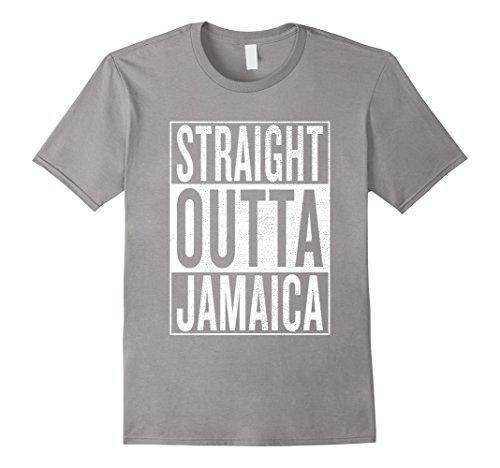 Mens Straight Outta Jamaica Great Travel   Gift Idea T Shirt Xl Slate