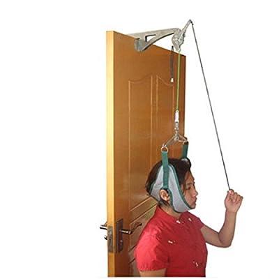 Tinsay Over door Cervical Traction Set for Neck Shoulder Pain Brace Relief Head Home