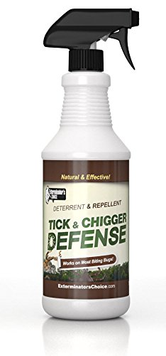 Exterminators Choice Tick and Chigger Defense repellent, 16oz Sprayfor ticks, chiggers, mites, biting insects yard treatment