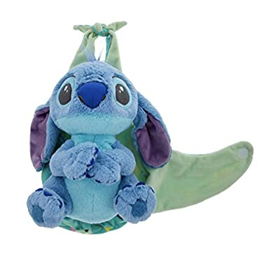 Disney Parks Baby Stitch in a Pouch Blanket Plush Doll: Toys & Games
