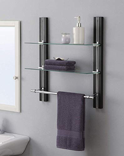 Organize It All 594480 Towel bar Silver, Brown (1 Unit)