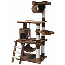 Go Pet Club F68 62-Inch Cat Tree Condo Furniture, Brown