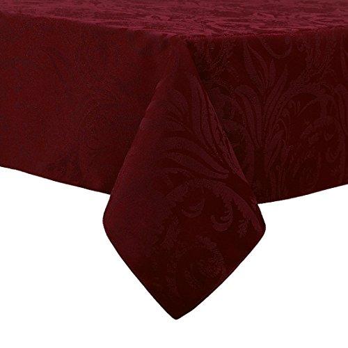 Linen Damask Fabric (Autumn Wine Damask Scroll Thanksgiving Tablecloth (60 x 84)