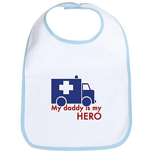 CafePress - My Daddy Is My Hero (paramedic) Bib - Cute Cloth Baby Bib, Toddler Bib