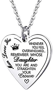 PARTNER Daughter Gift from Mom Dad Pendant Necklace Jewelry from Mom Dad Inspirational Necklace for Daughter G