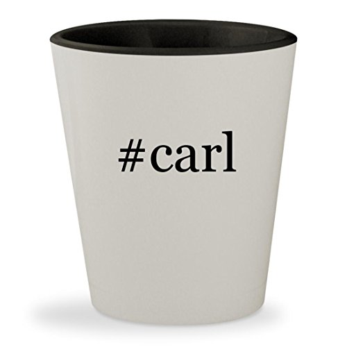 #carl - Hashtag White Outer & Black Inner Ceramic 1.5oz Shot Glass
