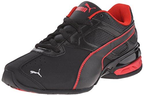 PUMA Tazon 6 SL JR Sneaker (Little Kid/Big Kid) , Black/Black, 2 M US Little Kid