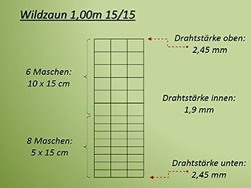 Cl/ôture /à gibier Cl/ôture foresti/ère Cl/ôture de prairie Cl/ôture Treillis /à n/œuds 100 cm 100//8//15