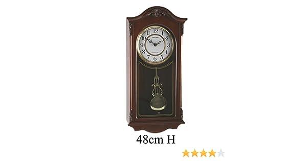 Reloj Deluxe de Pared de madera a Péndulo - Tañido Westminster: Amazon.es: Hogar