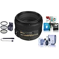 Nikon 50mm f/1.4G AF-S NIKKOR Lens - USA. Warranty - Bundle with 58mm Filters & Pro Software