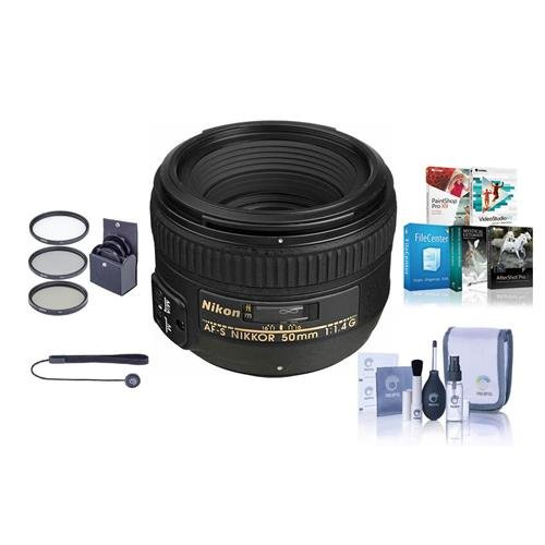 -S NIKKOR Lens - USA. Warranty - Bundle with 58mm Filters & Pro Software ()