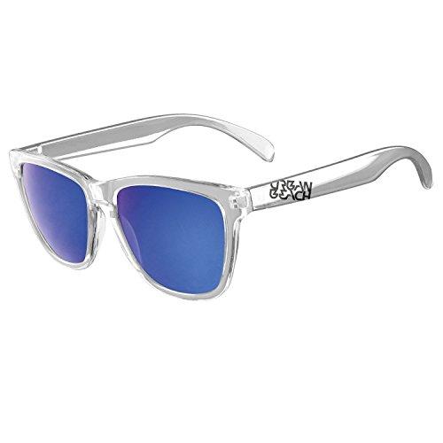 Urban Beach Wayfarer Style Sunglasses Lunettes de Soleil Mixte, Claire, Moyen