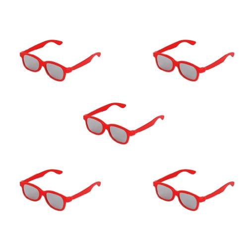 5 Stueck Kinder 3D-Brille Lens 3D Glasses Fuer Panasonic TV Sony Monitor