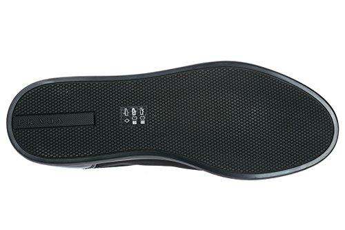 Sneakers Scarpe Nero Pelle Prada in Nuove Uomo 16FawxzfWq