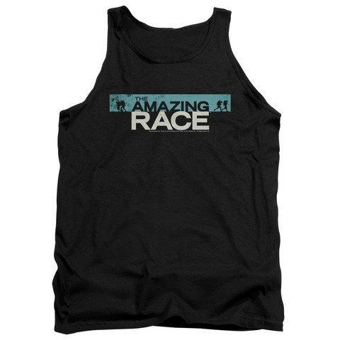 Adult Tank Top Trevco Amazing Race-Bar Logo Black44; Large