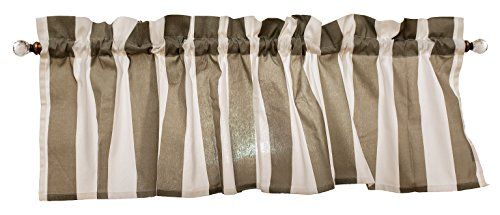 Gray Curtain Valance for Windows - Crabtree Collection - Noble Gray Striped (16 x 60)