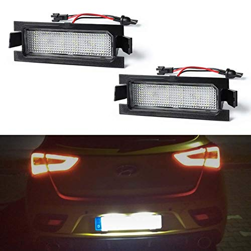 GemPro 2Pcs LED License Plate Light Lamp Assembly Compatible with Hyundai i30 I30 CW, (For Hyundai)