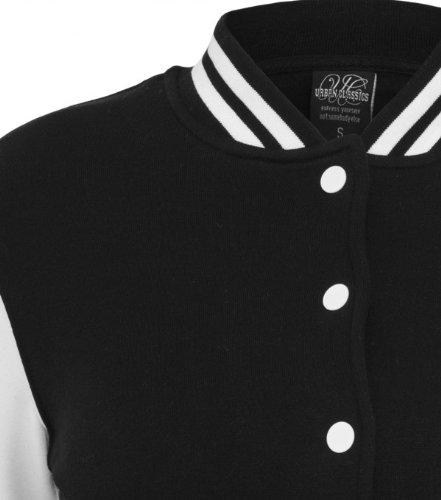 Urban Classics - Girls 2Tone Princeton College Sweat Jacke - Schwarz Weiss TB218