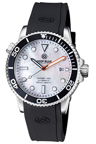 (Master 1000 Automatic Diver Black Bezel -White Mother of Pearl DIAL)