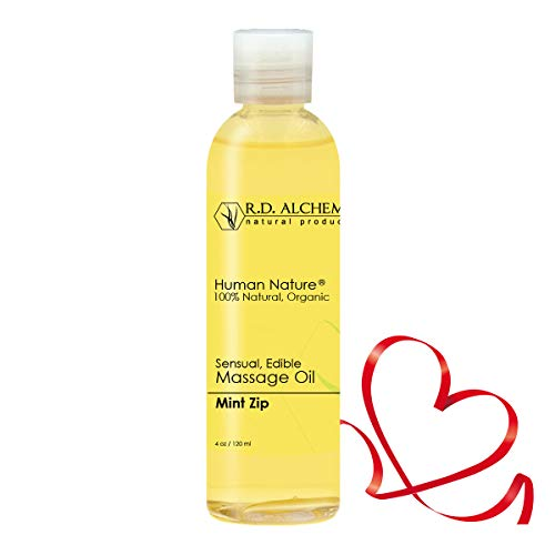 - 100% Natural & Organic, Edible Massage Oil for Body. Essential Oils Perfect for Couples. Erotic Flavor: Mint Zip - Sends The Right Message.