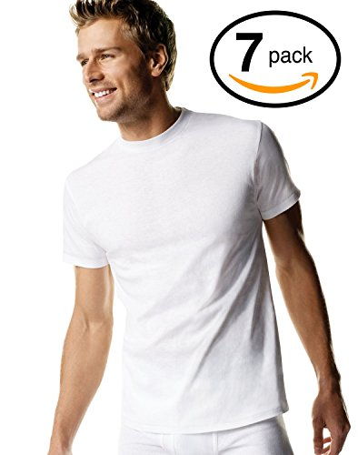 Hanes Red Label Men's Freshiq Comfortsoft Crewneck T-Shirt (Bonus Pack) (Large, (Hanes Crew Neck)