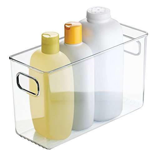 mDesign Storage Bin Container with Built-in Handles for Bath