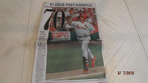 (LOT of 3) Mark McGwire 1998 70 Home Run St. Louis Newspaper -Full Paper from MD Sports Connection