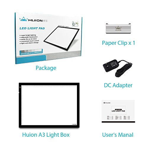 Huion 23.5 Inch Tatoo Tracing Light Table LED Light Box - A3