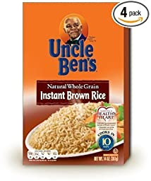 Uncle Ben\'s Natural Whole Grain Instant Brown Rice 14 Oz (Pack of 4)