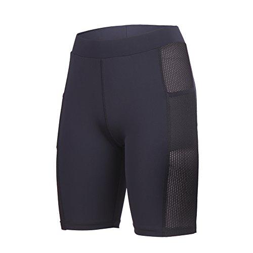 beroy Yoga Capri Short Legging Pants With Two Pockets,4CM High Waistband Women Running Workout Pants With Side Mesh,Women's - 4 Shorts Running
