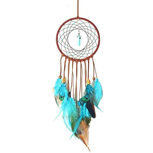 BBB&LIU Handmade Dream Catcher Colorful Feathers Bead Design Hanging Pendant Decoration Ornament Gift Home Wall Art Hangings,Multi-Colored