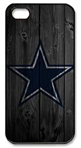 Icasepersonalized Personalized Protective Case for iPhone 5 - NFL Dallas Cowboys in Wood Background wangjiang maoyi