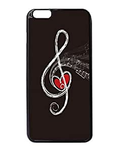"""Musical Notes Pattern Image Protective iphone 6 Plus (5.5"""") Case Cover Hard Plastic Case For iPhone 6 Plus - 5.5 Inches"""