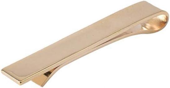SKYyao Tie Clips Tie Bar Clip Mens Suit Tie Clips Gold Silver Black Collar Tie Accessories Alloy 55MM x 8MM