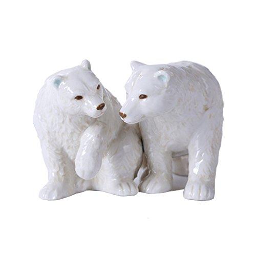 Cola Ceramic (Mr. and Mrs. Polar Bear 3 inch Ceramic Stoneware Salt and Pepper Shaker)