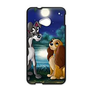HTC One M7 Cell Phone Case Covers Black Lady and the Tramp II Scamp's Adventure Character Annette N5Y4U