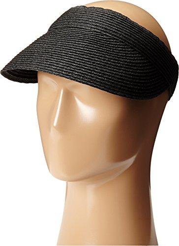 - Scala Women's Paper Braid Visor, Black, One Size