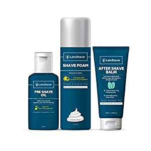 LetsShave-Premium-Shave-Care-Kit-Pre-Shave-oil-100-ml-Shave-Foam-200gm-AfterShave-Balm-100-ml