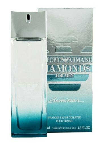 Emporio Armani Diamonds Summer Edt Fraiche Spray For Men 2.5 oz by GIORGIO ARMANI