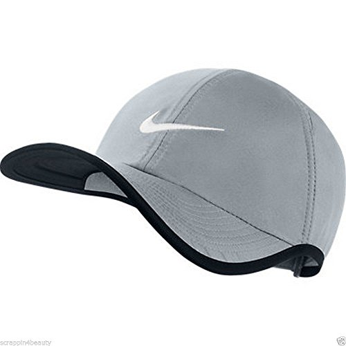Nike Unisex Feather Light Adjustable Hat, Grey/Black, One Size - Tennis Dri Hat Fit Nike